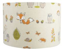 Fryetts Fox and Owl Lampshade, Ceiling Light / Table Lamp